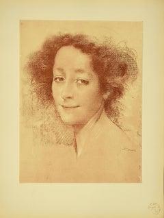 Belle D'Antan - Original Lithograph by L. Levy-Dhurmer - 1897