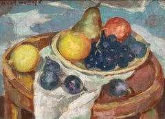Still Life with Figs and Grapes