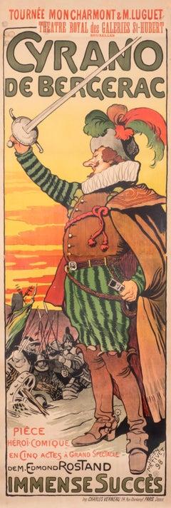 """""""Cyrano de Bergerac"""" Original Vintage Theatre Poster"""