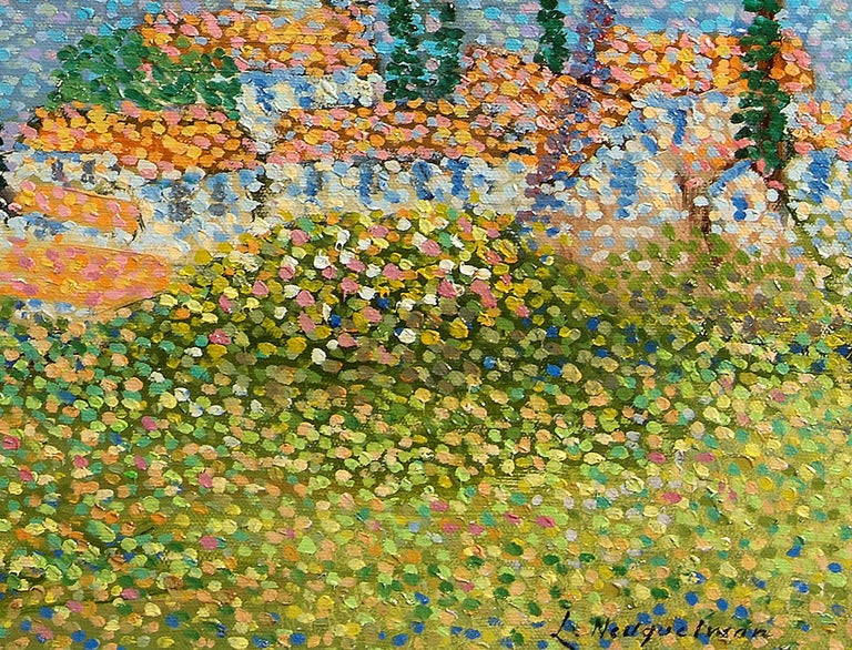 Saint Tropez - Pointillist Painting by Lucien Neuquelman