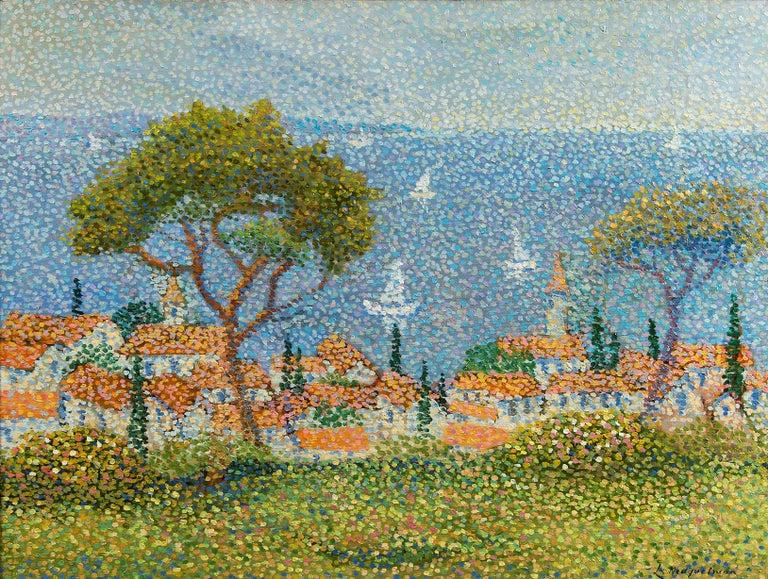 Saint Tropez - Painting by Lucien Neuquelman