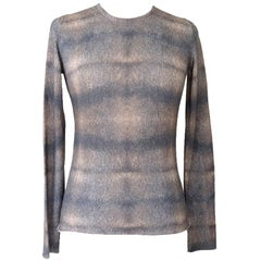 Lucien Pellat-Finet Top Cashmere and Silk M Gorgeous Print Muted Colours M