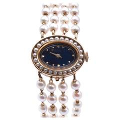 Lucien Picard 14 Karat Yellow Gold Vintage Seed Pearl Ladies Watch