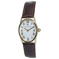 Lucien Piccard 14 Karat Yellow Gold Ladies Quartz Watch, circa 1980s
