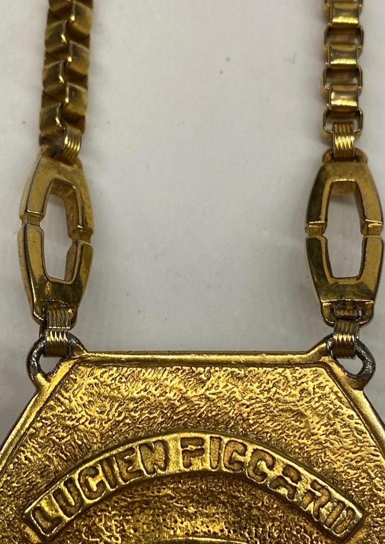 Lucien Piccard 1970s Enamel Pendant necklace For Sale 7