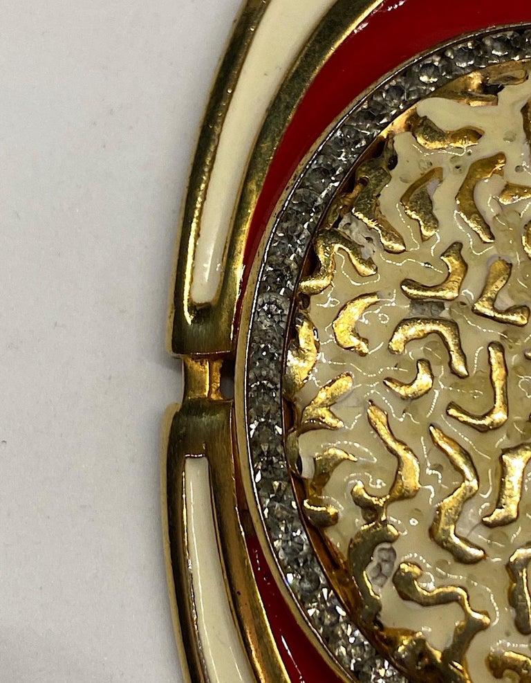 Lucien Piccard 1970s Enamel Pendant necklace For Sale 8