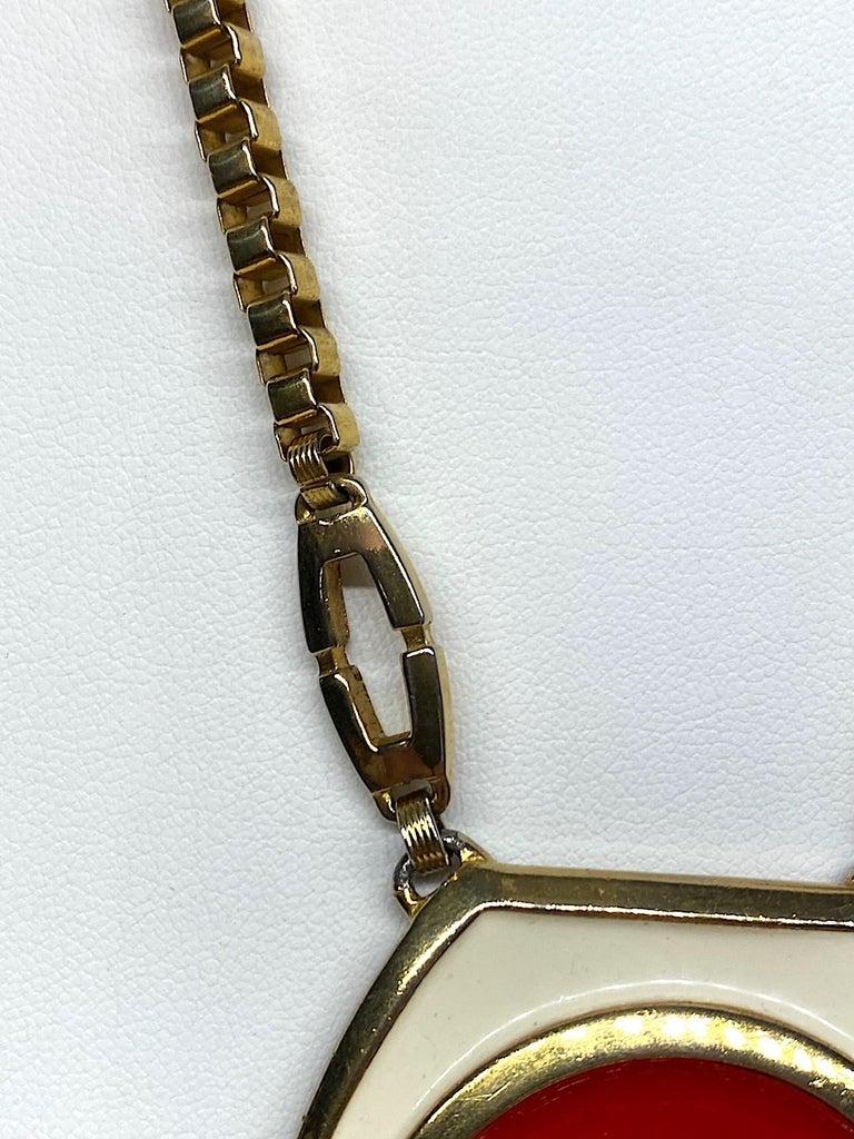 Lucien Piccard 1970s Enamel Pendant necklace For Sale 1