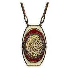 Lucien Piccard 1970s Enamel Pendant necklace