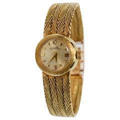 Lucien Piccard Ladies Gold Vintage Dress Bracelet Wristwatch