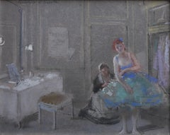 Guirand de Scevola  (1871-1950) An actress in her dressing room, pastel