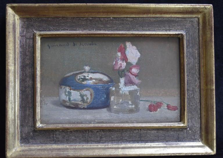 Lucien Victor Guirand de Scevola (1871-1850) A Still Life Oil on panel - Painting by Lucien-Victor Guirand de Scévola