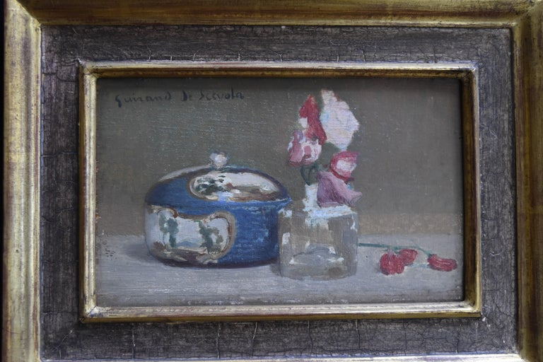 Lucien Victor Guirand de Scevola (1871-1850) A Still Life Oil on panel - Post-Impressionist Painting by Lucien-Victor Guirand de Scévola