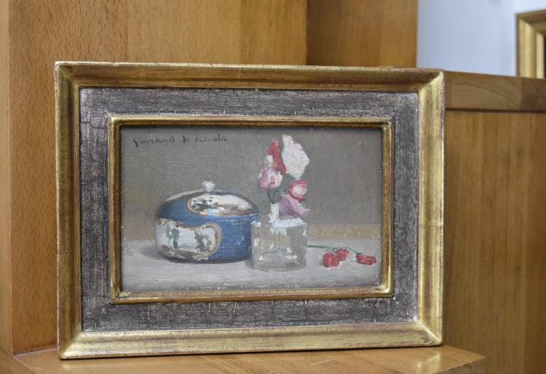 Lucien Victor Guirand de Scevola (1871-1850) A Still Life Oil on panel For Sale 1