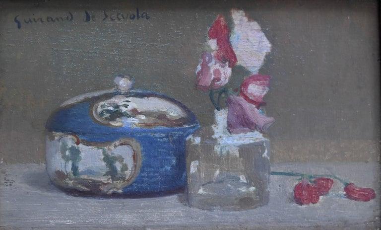 Lucien-Victor Guirand de Scévola Figurative Painting - Lucien Victor Guirand de Scevola (1871-1850) A Still Life Oil on panel
