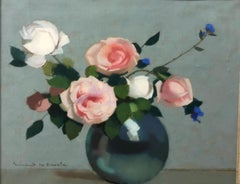 """Roses and cornflowers"" Pastel  cm. 44 x 36     1915 ca"