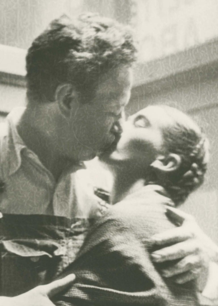 Frida and Diego Kissing - Photograph by Lucienne Bloch