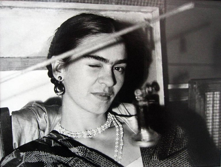 Lucienne Bloch Portrait Photograph - Frida Winking, New Workers School, NY