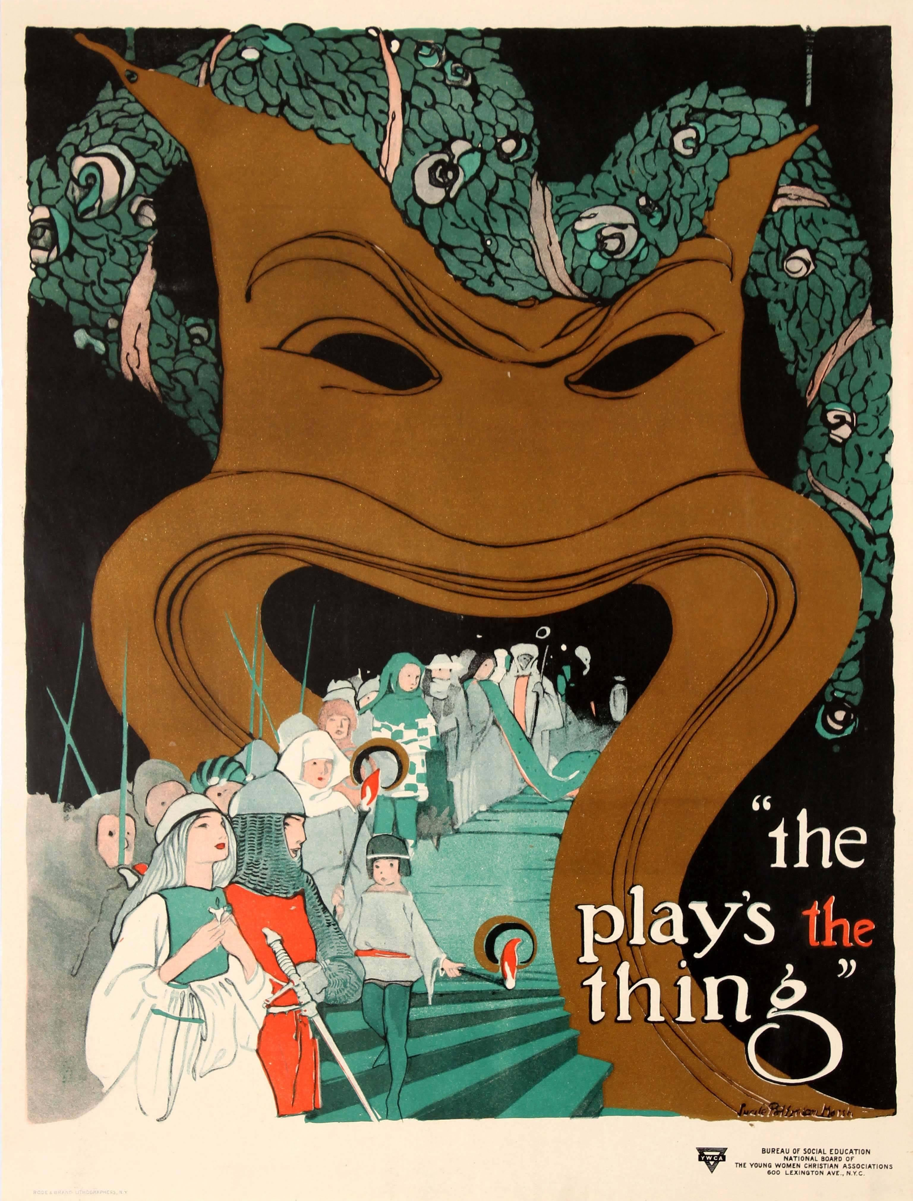 Original Vintage YWCA & Bureau Of Social Education Poster - The Play's The Thing
