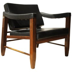 Lucio Costa, Pair of Armchairs with Solid Rosewood Structure, Original Seating