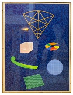 Untitled - Screenprint and collage by Lucio del Pezzo, Italy