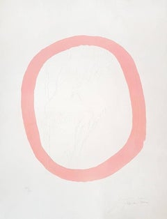 Nudo Rosa (Nude in Pink) - Original Etching by Lucio Fontana - 1967