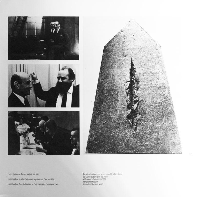 Lucio Fontana, Big Photography, Italy, circa 1962 For Sale 3