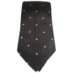 Lucio Lamberti black silk tie