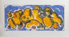 Conversation, Abstract Monoprint by Lucio Pozzi