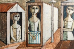 Three Women, Oil Painting by Lucio Ranucci 1971