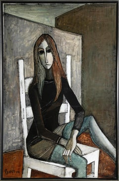Woman in Chair, Oil Painting by Lucio Ranucci