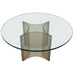 Plexiglas und Glas Kaffeetisch, 1960er