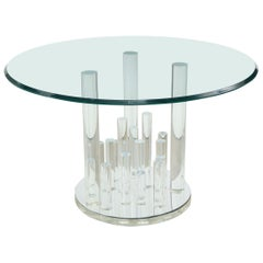 Lucite and Glass Dining Table