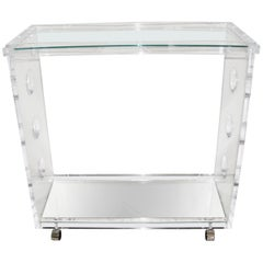 Lucite and Mirror Bar Cart