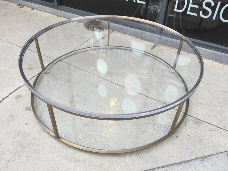 Mid-Century Modern Lucite and Solid Brass