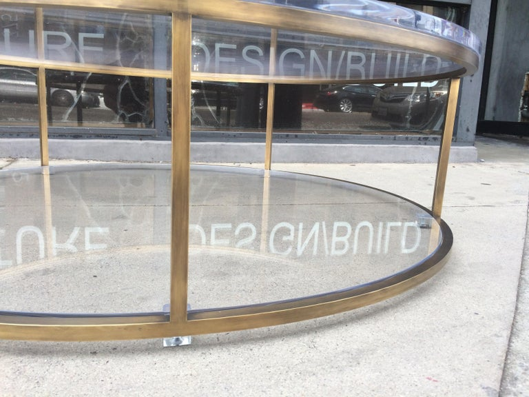 Contemporary Lucite and Solid Brass