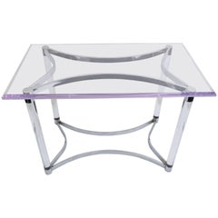 Lucite and Steel Console Table or Table Base