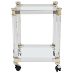 Space Age Vintage Lucite Bar Cart by Pierre Vandel Attributed, 1970s, France