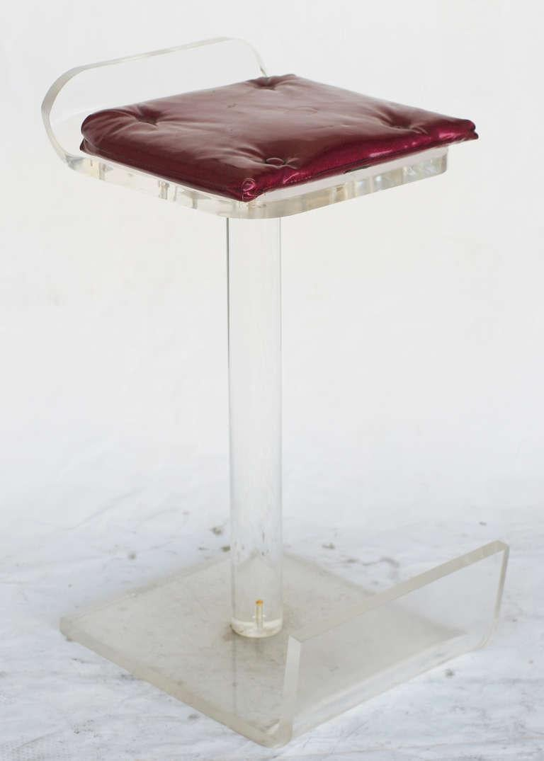 American Lucite Bar Stools For Sale