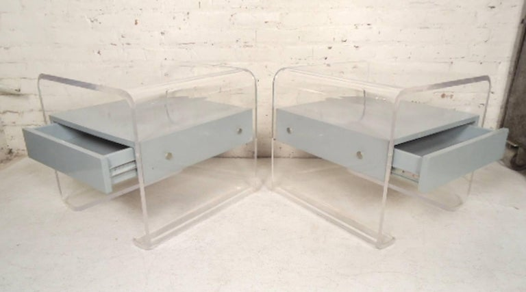 Mid-Century Modern Lucite Bedside Tables