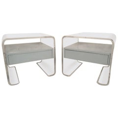 Lucite Bedside Tables