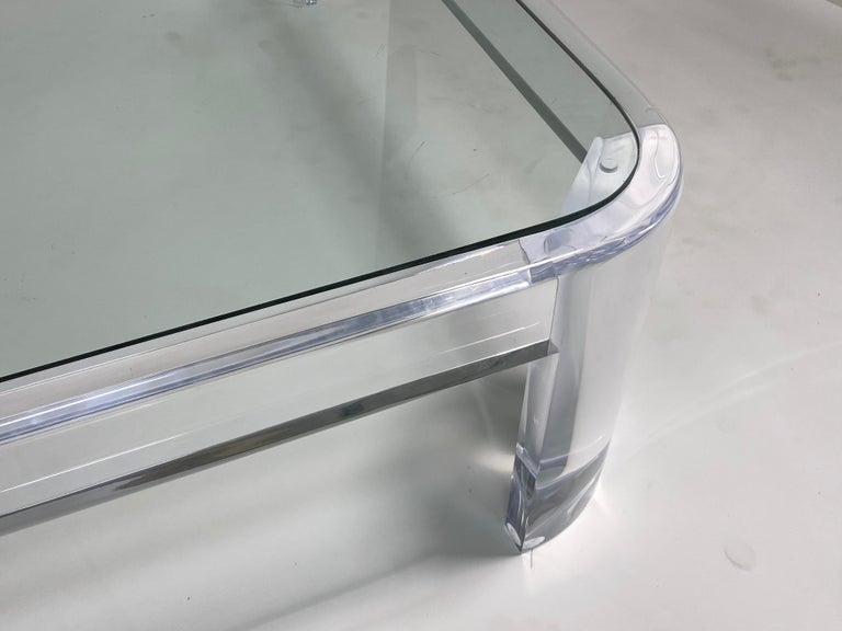 American Lucite Coffee Table by Les Prismatiques For Sale