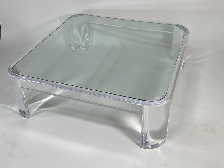 20th Century Lucite Coffee Table by Les Prismatiques For Sale