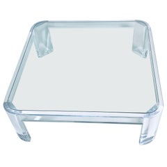 Lucite Coffee Table by Les Prismatiques