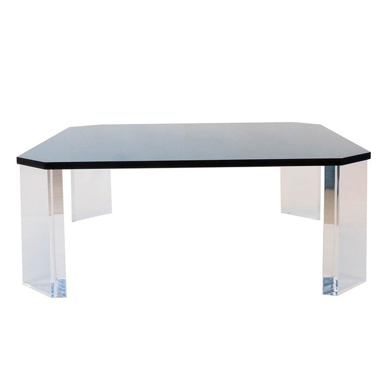 Contemporary Lucite Coffee Table For Sale