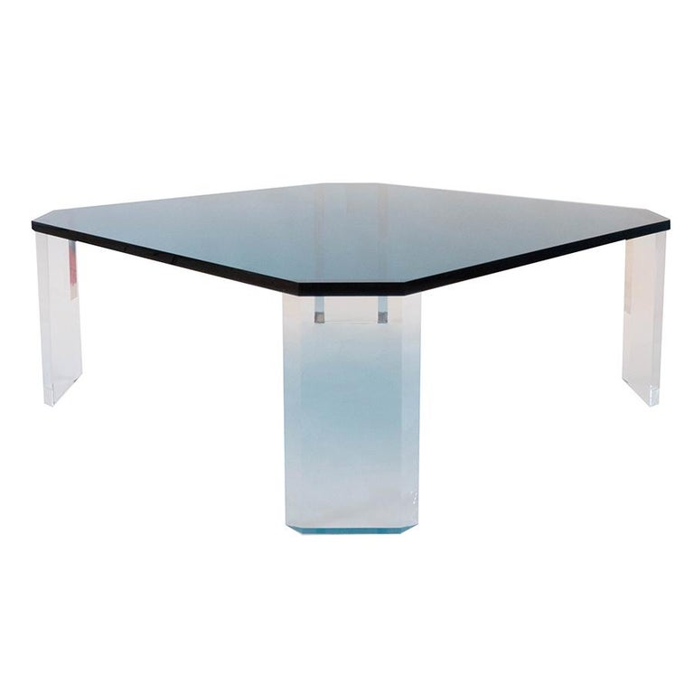 Lucite Coffee Table For Sale 2