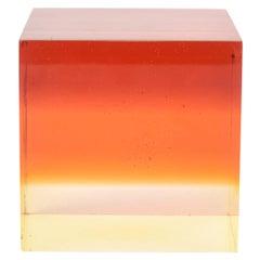 Lucite Colorful Cube Sculpture Desk Accessory Vintage