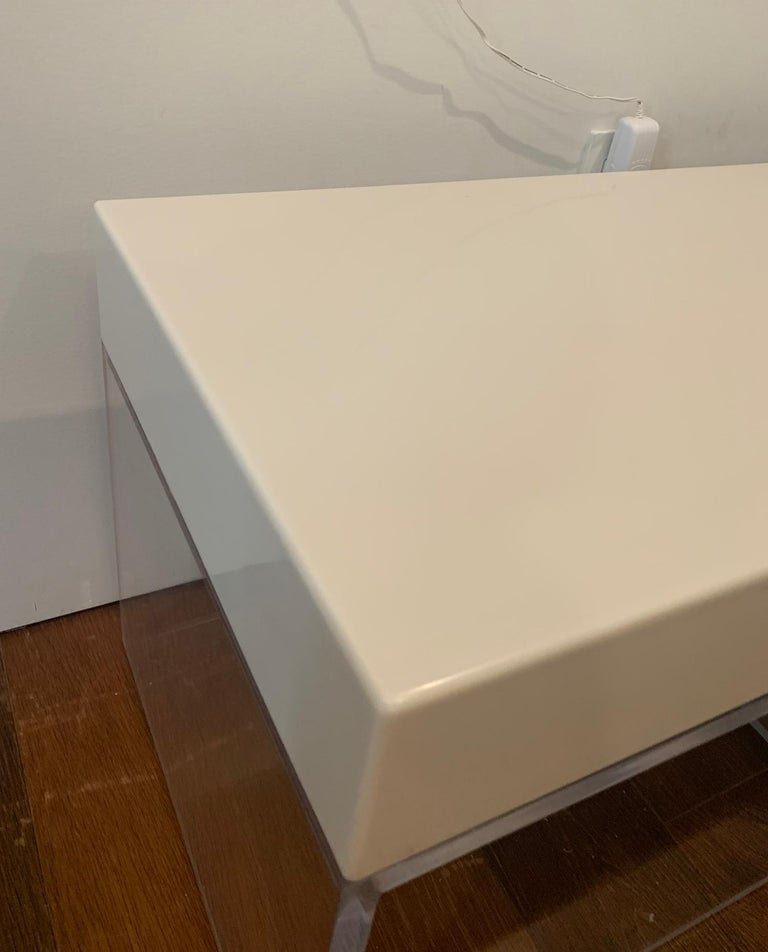 Lucite and Corian Bench by Cain Modern For Sale 3