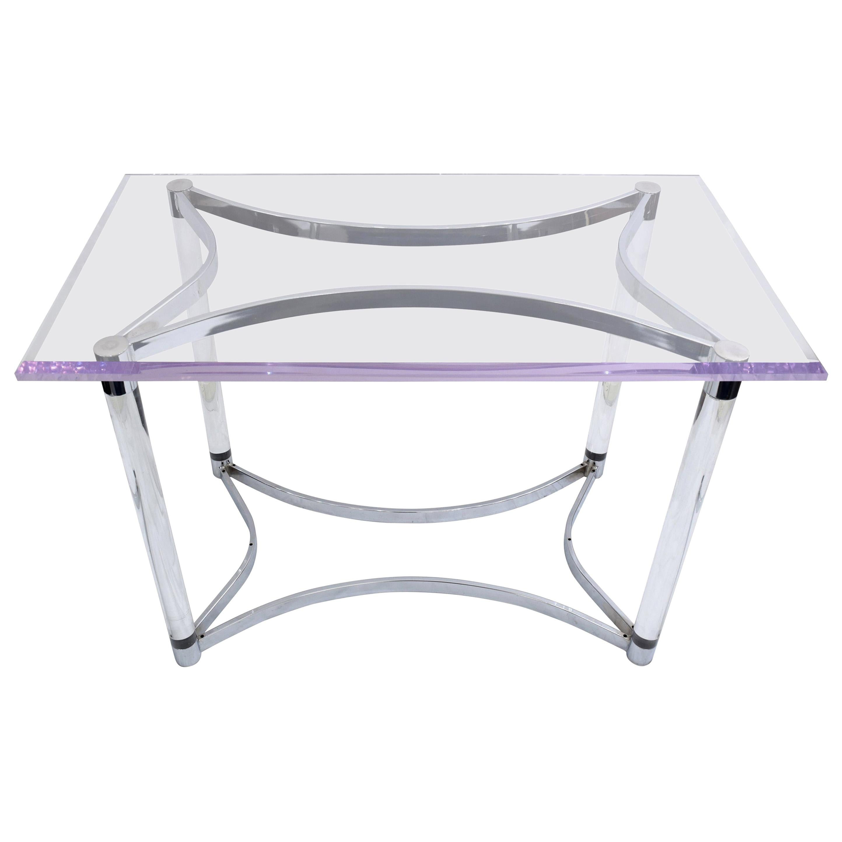 Lucite Desk in the Style of Charles Hollis Jones