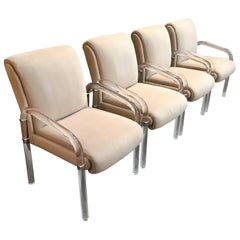 Lucite Dining Chairs Set of Four