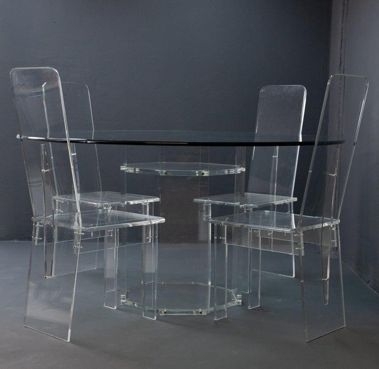 Lucite Dining Room Set 5
